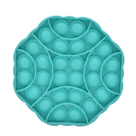 Push Bubble Stress Relieving Octagonal Fidget for Adults/Children in Teal (12x12cm)