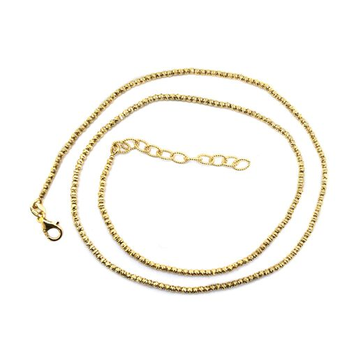 Vicenza Collection 9K Yellow Gold Chain (Size 18 with 2 inch Extender), Gold wt 6.50 Gms.