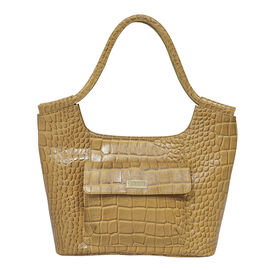 ASSOTS LONDON Genuine Croc Leather Tote Bag