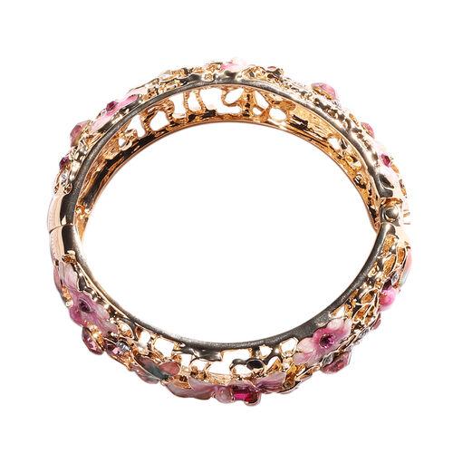 Multi Colour Austrian Crystal Enamelled Bangle (Size 7)