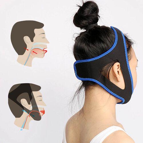 Set of 2 - Anti-Snoring Chin Strap (Size 57x5.5cm) - Blue & Black