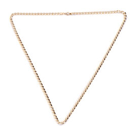 Vicenza Collection - 9K Yellow Gold Oval Curb Necklace (Size 20), Gold wt 5.01 Gms.