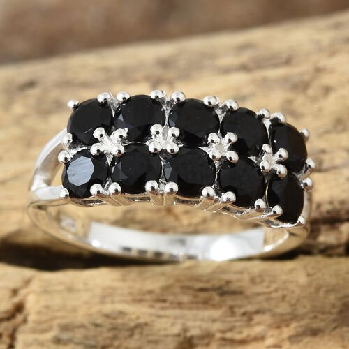 Boi Ploi Black Spinel (Rnd) Ring in Sterling Silver 2.250 Ct.