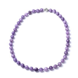 FE03OV14x10C1-4.000cts.  Necklace in Rhodium Overlay Sterling Silver 342.50 ct  342.500  Ct.