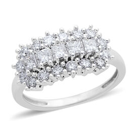 ILIANA 18K White Gold IGI Certified Diamond (Rnd) (SI/G-H) Ring 1.010 Ct.