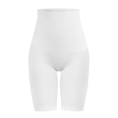 2 Piece Set - SANKOM SWITZERLAND Patent Classic Posture Correction Shapers Shorts with Lace (Size S/M) - Taupe and White