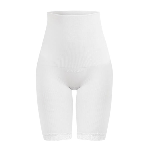 2 Piece Set - SANKOM SWITZERLAND Patent Classic Posture Correction Shapers Shorts with Lace (Size XXL) - Taupe and White