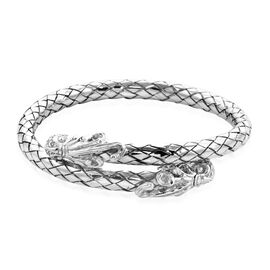 Royal Bali Collection - Sterling Silver Octopus Head Cuff Bangle (Size 7.75), Silver wt 48.78 Gms