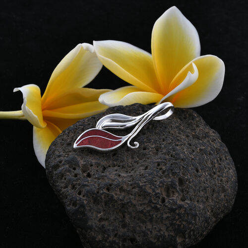 Royal Bali Collection Sponge Coral Leaf Pendant in Sterling Silver