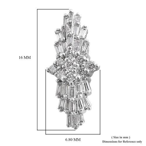 RHAPSODY 950 Platinum IGI Certified Diamond (Bgt and Rnd) (VS / E-F) Earrings (with Screw Back) 0.500 Ct.
