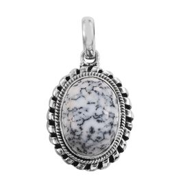 Dendritic Opal (Ovl) Pendant in Sterling Silver 11.040 Ct.