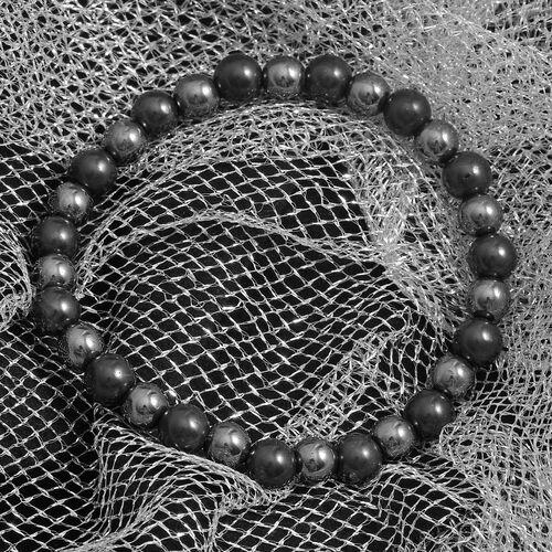 Shungite and Hematite Stretchable Bead Bracelet (Size 8) 128.00 Ct.