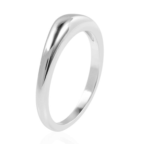 LucyQ Pebble Collection - Rhodium Overlay Sterling Silver Band Ring