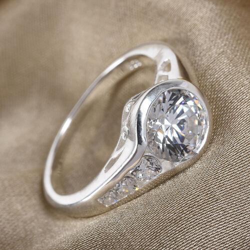 J Francis Sterling Silver Ring Made with SWAROVSKI ZIRCONIA