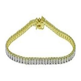 14K Yellow Gold Diamond (I2-I3/G-H) Bracelet (Size 7) with Clasp Lock 2.99 Ct, Gold wt 5.85 Gms