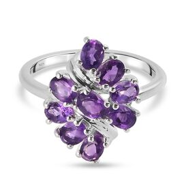 Amethyst Ring in Sterling Silver 1.330 Ct.
