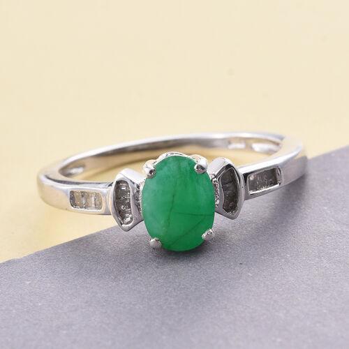 1 25 Ct Kagem Zambian Emerald And Diamond Ring In Platinum