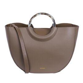 Inyati Georgia Half Moon Bag with Removable Pouch (Size 23x35x13 Cm) - Khaki