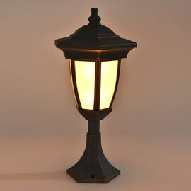 Decorative LED Lantern (Size 35x10 Cm) - Grey (3xAA Battery not Included)