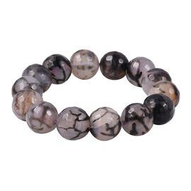 Grey Agate (Rnd) Stretchable Bracelet (Size 7.5) 361.00 Ct.