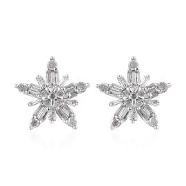 0.33 Ct Diamond Stardust Stud Earrings in 9K White Gold