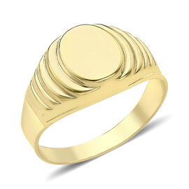 Fathers day Gift Idea - Limited Edition- 9K Yellow Gold Signet Ring
