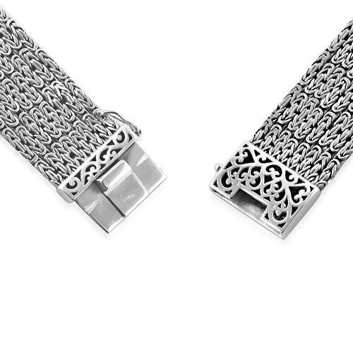 Royal Bali Collection EON 1962 Swiss movement Sterling Silver MOP Tulang Naga Bracelet Watch (Size 7), Silver wt 69.46 Gms.