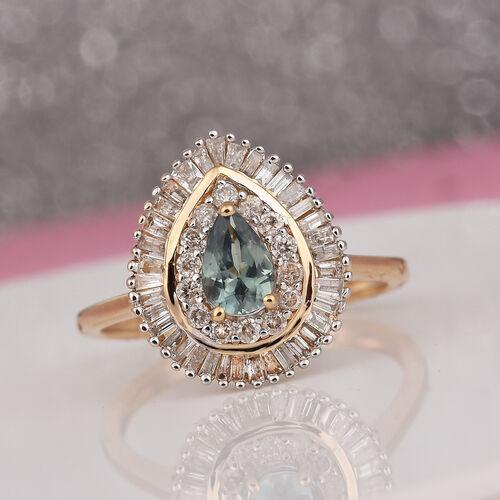 14K Yellow Gold Narsipatnam Alexandrite and Diamond Ring 1.00 Ct.
