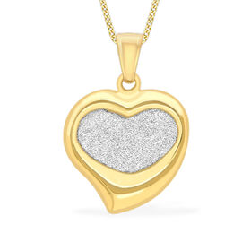 9K Yellow Gold Stardust Fickle Heart Pendant