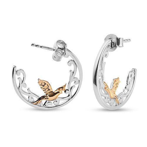 Platinum Overlay Sterling Silver Full Hoop Earring