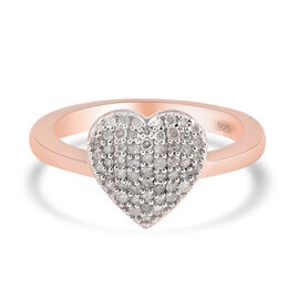 Personalise Engravable Diamond Heart Ring