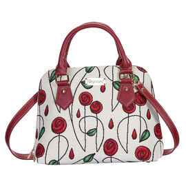 SIGNARE - Tapestry Collection - Rose Top-Handle Shoulder Bag with Removable Strap ( 36 x 23 x 12.5 C