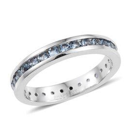 RHAPSODY 950 Platinum 1 Carat Santa Maria Aquamarine Full Eternity Band Ring.