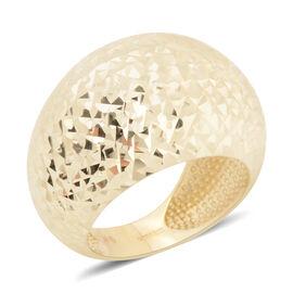 Diamond Cut Band Ring in 9K Gold 3.96 Grams
