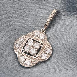 J Francis - Platinum Overlay Sterling Silver Pendant Made with SWAROVSKI ZIRCONIA 3.370 Ct.