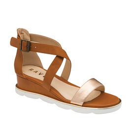 Ravel Junee Wedge Sandals in Tan Colour