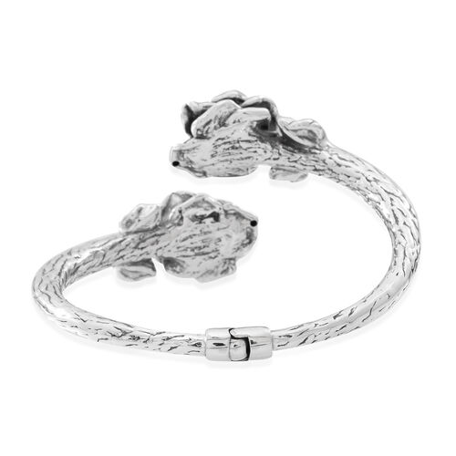 Statement Collection Sterling Silver Floral Bangle (Size 7.5), Silver wt 20.50 Gms.