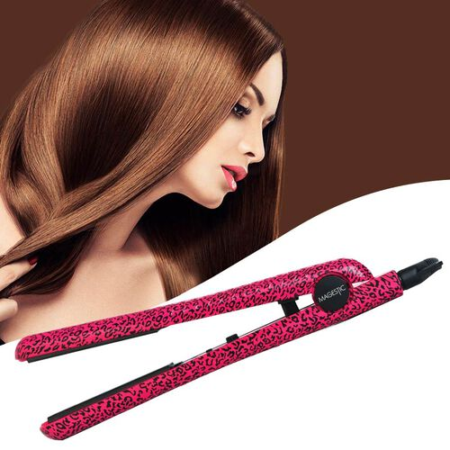 Magestic: 1.25in Ceramic Hair Straightener - Pink Leopard