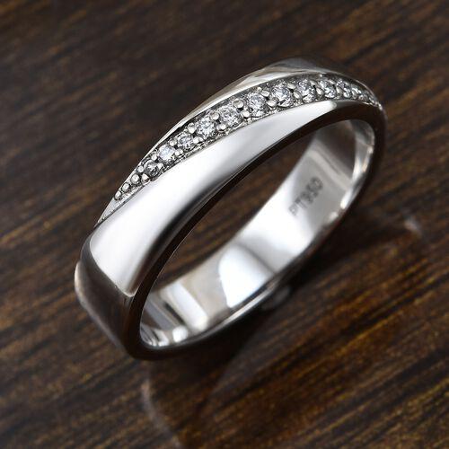 RHAPSODY 950 Platinum IGI Certified Diamond (Rnd) (VS/E-F) Band Ring 0.100 Ct