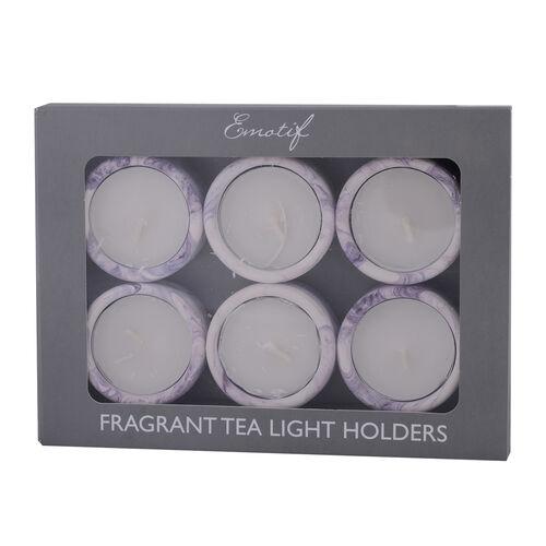 6 Pcs Tea Light Holders - Black Iris