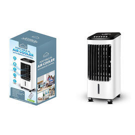HAVEN Air Cooler with Remote 4 Litre Portable (Size 51x21 Cm) - White & Black