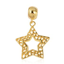 RACHEL GALLEY Yellow Gold Overlay Sterling Silver Star Lattice Charm Pendant