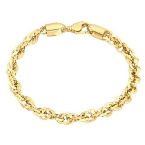 Hatton Garden Prince of Wales Chain Bracelet in 9K Yellow Gold 7 Inch