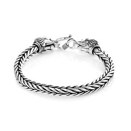 Elephant Head Bracelet in Sterling Silver 38.75 Grams 7.5 Inch