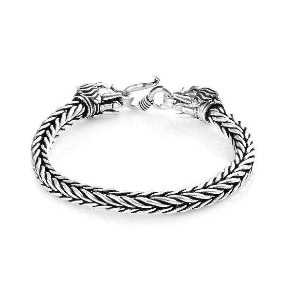 Elephant Head Bracelet in Sterling Silver 38.75 Grams 7.5 Inch