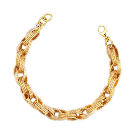 JCK Vegas Collection - 9K Yellow Gold Prince of Wales Bracelet (Size 7.5), Gold wt 8.00 Gms