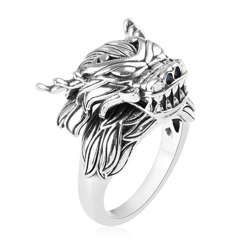 Sterling Silver Dragon Ring, Silver wt 11.40 Gms