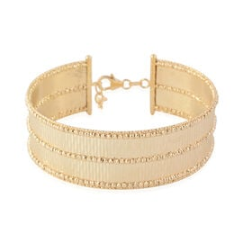 Italian Made- 9K Yellow Diamond Cut Gold Bangle (Size 7 with 1 inch Extender), Gold wt 14.60 Gms