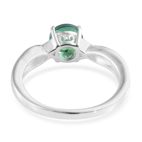 Peacock Triplet Quartz (Rnd) Knot Ring in Sterling Silver 1.000 Ct.