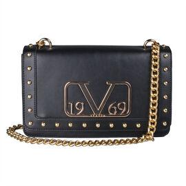 19V69 ITALIA by Alessandro Versace Crossbody Bag Detachable with Chain Strap (Size 27x6x17Cm) - Gunm